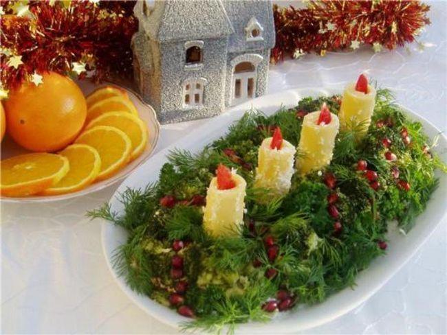 салат зі свічками