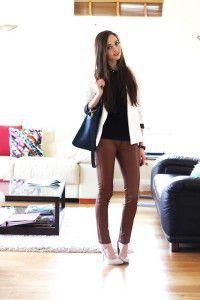 З чим носити коричневі штани: огляд з фото